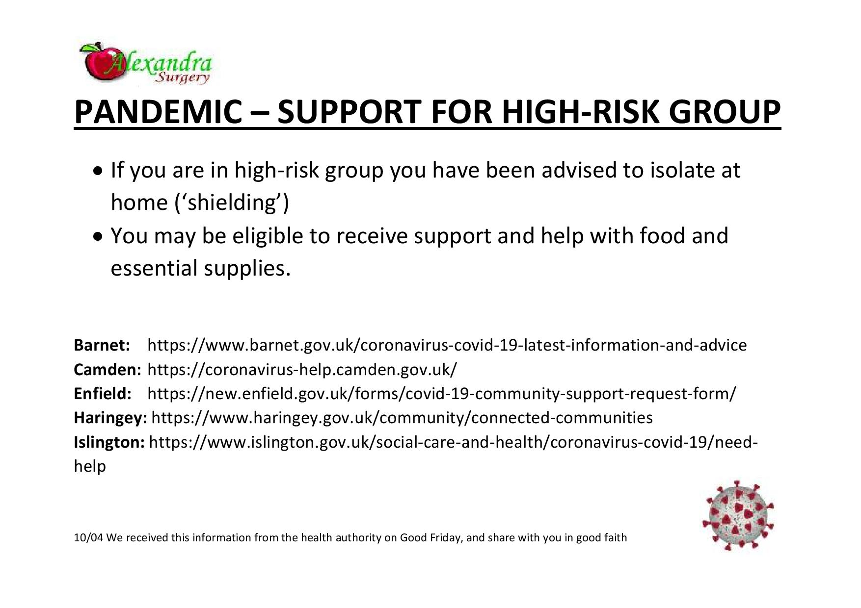 High risk group eligible for help
