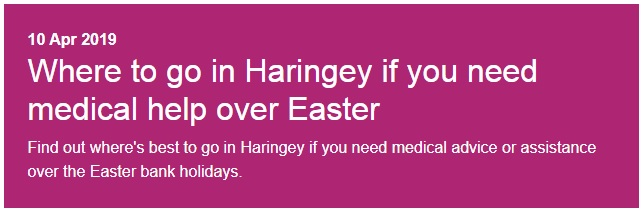 Easter weekend medical help available