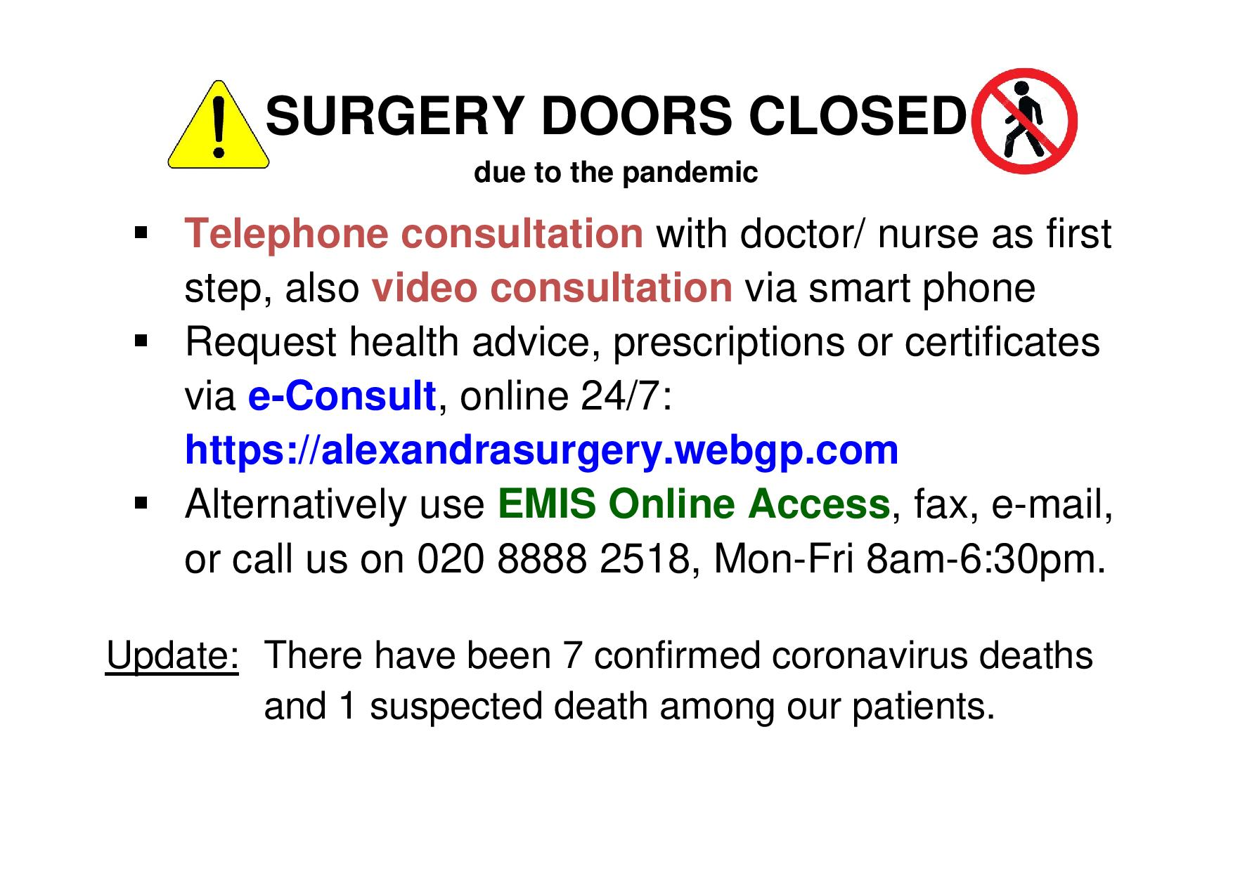 Surgery doors closed poster2